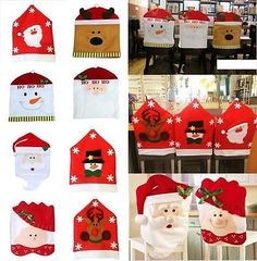 8 Style Christmas Santa Claus Dinner Chair Seat Back Cover Home Decoration Gift Seasonal Decor, Holiday Decor, Christmas Decorations, Table Decorations, Gift Table, Ideas Para, Cover, Christmas Time, Santa