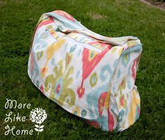 More Like Home: Stroller Friendly Diaper Bag {free pattern & tutorial} (looks challenging)