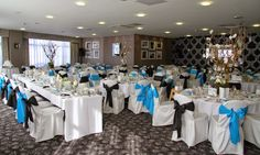 The Garden Room at Ribby Hall Village with stunning centrepieces from Flower Design