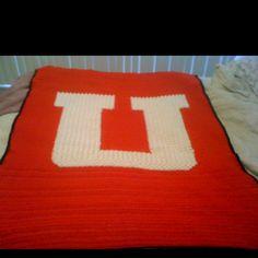 Crocheted Ute blanket