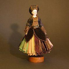 Glazed China Shoulder Head Fortune Teller Doll - Bonne Aventure Doll