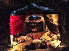 this fort has a fucking fire place in it, fucking unbelievable