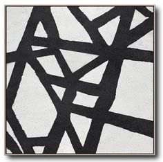 Minimal Black and White Painting #MN138A