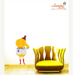 Chip chip! Wall decal so cute! <3