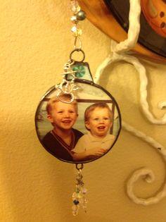 Glass ornament.