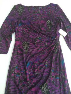 New!! Jessica Simpson Purple Feather Plumes Dress Size 12 JSOG2072 #JessicaSimpson #WeartoWork
