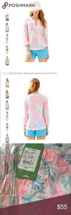 NWT Lilly Pulitzer Amelia Island Tunic NWT Lilly Pulitzer Amelia Island Tunic Lilly Pulitzer Tops Blouses