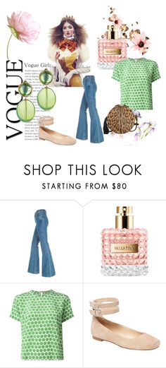 """""""Vogue Girls"""" by helena-bekker ❤ liked on Polyvore featuring Valentino, Peter Jensen, Karl Lagerfeld and Jérôme Dreyfuss"""