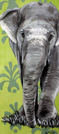 "ELEPHANT Canvas painting i would like to paint for my brothers wedding gift as I am his best ""Lady"" Elephant Canvas, Elephant Love, Love Painting, Painting & Drawing, Painting Tips, Watercolor Painting, Gravure Photo, Animal Paintings, Indian Paintings"