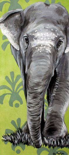 ELEPHANT Canvas Print by Kaytlyne on Etsy, $60.00