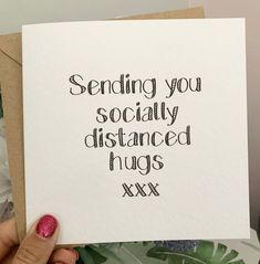 Sending socially distanced hugs card, social distancing, greetings card, get well soon, thinking of Get Well Soon Quotes, Get Well Soon Gifts, Get Well Soon Baby, Get Well Wishes, Happy Birthday Greetings Friends, Friend Birthday Quotes, Greeting Card Companies, Greeting Cards, Hug Quotes