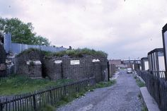 Ruined Chancel of war-damaged St Mary Bromley By Bow 1969. Road was access to prefabs.