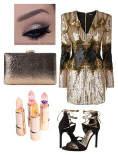 """Sparkle me up for the party"" by staciapandalover on Polyvore featuring Balmain and Stuart Weitzman"