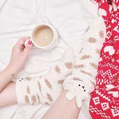 Tea time Melina Souza - Serendipity <3 #Socks #Meias #winter