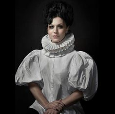 Cristina Scabbia Lacuna, Cristina Scabbia, Symphonic Metal, Metal Bands, Celebrity Pictures, Black Metal, Collars, Crushes, Ruffle Blouse