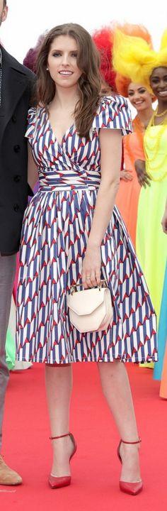 Anna Kendrick: Jewelry – Vita Fede  Dress – Marc Jacobs  Purse – M2MALLETIER  Shoes – Soebedar