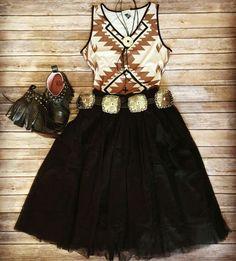 Legendary Western. Fringe boho southwest aztec concho tribal cowgirl gypsy shirt fashion attire.