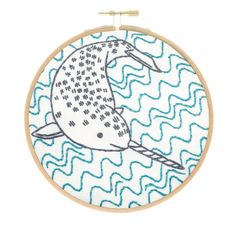 Narly Narwhal Embroidery Kit