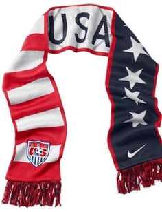 Are you a fan? This is a necessary scarf to support the USA national Soccer team in the stadium! Get it at a great price here! Usa Soccer Team, Us Soccer, Soccer Drills, Team Usa, Soccer Teams, Soccer Stuff, Usa National Team, Textiles, Soccer Training