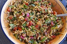 """Have you ever used cauliflower for """"rice""""? Here's a recipe for raw spanish rice...it's really fresh and delicious!"""