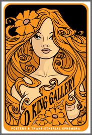 D. King Gallery - Rock posters, postcards, handbills, gig posters and mylar poster sleeves from D. King Gallery, serving collectors of rock and roll posters since 1971. 60's Fillmore Posters through modern silkscreens. - Rock Posters - Since 1971 - 60's Psychedelic Rock Concert PostersPostcar...