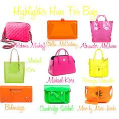 Neon Hand Bags Inspiration ☻                         ⇜•ṄεΦЙ❉€яᗛƶΣ•⇝
