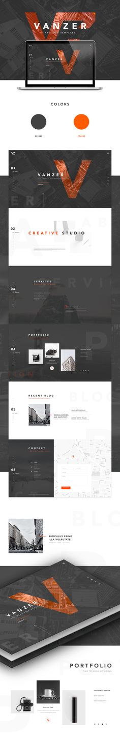 Vanzer is a FREE PSD template for portfolio website. It's fully layered and…