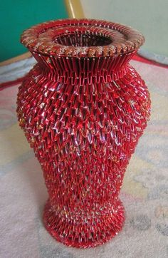 3D Origami - Large Tall Vase