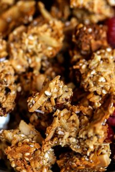 Crispy, crunchy, no oil or oats, or refined sugar! This healthy Paleo granola recipe is insanely delish and made in 30 minutes! Perfectly paired with coconut yogurt. Made with toasty coconut, almond, nutty infusions, and cinnamon spice. Sweetened naturally.! Made in minutes. Whole30 breakfast recipes. Whole30 breakfast ideas. Whole30 granola. Paleo granola recipe. Easy paleo granola. Best grain free granola recipe. Healthy breakfast ideas. Easy breakfast recipes. Whole30 meal ideas. whole30…