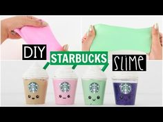 DIY School Supplies - 5 Starbucks DIYs (Liquid Phone Case, Mini Notebook, Slime Pen & Keychain..) - YouTube