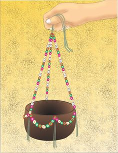 How to Make a Coconut Shell Hanging Basket -- via wikiHow.com #crafts #coconuts #shells