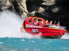 Shotover Jet - a 'must do' for anyone visiting Queenstown - pure adrenaline Luxury Accommodation, Romantic Movies, New Zealand, Jet, Bucket, Holiday, Vacations, Romance Movies, Romance Film