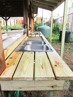 Vegetable Wash Stations - Urban Farm Plans                                                                                                                                                                                 More