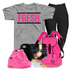 """BabyGirl™"" by beauty-star-babydoll930 on Polyvore featuring Lyssé Leggings, Victoria's Secret and NIKE"