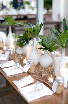 Our Mid-Century Urban Garden Party Wedding – PT 2 - Saffron Avenue Garden Party Wedding, Mod Wedding, Wedding Table, Floral Wedding, Trendy Wedding, Wedding Flowers, Wedding Dress, Reception Decorations, Event Decor