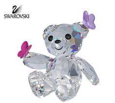Swarovski Crystal Figurine KRIS BEAR PLAYFUL BUTTERFLIES #1143450