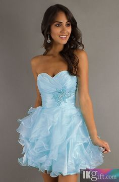 Ball Gown Sweetheart Organza Short Prom Dress