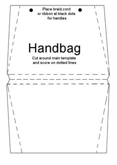 How to Make Handbag Card Tutorial - Card Making World 3d Templates, Card Templates Printable, Card Making Templates, Card Making Tutorials, Card Making Ideas Free Printables, Paper Purse, Baby Shower Invitaciones, Verses For Cards, Card Making Supplies