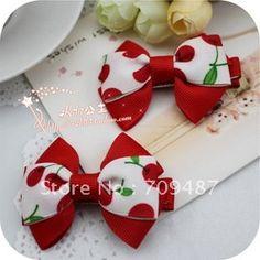 children's hair accessories baby hair clips Korean girls headdress flower Red cherry flat folder-in Hair Accessories from Apparel & Accessories on Aliexpress.com