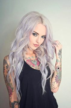 Pretty hair color( nice tattoos too)- Save 50% - 90% on Special Deals. http://www.ilovesavingcash.com