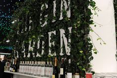 The Gin Garden with lots of Dodds Gin available