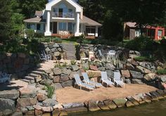 This would eliminate that awfully steep hill that's my backyard. What a great trip down to the lake it would be!