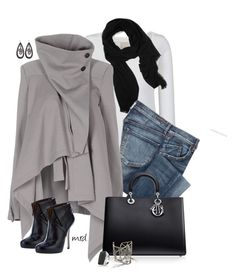 """Cape"" by michelled2711 ❤ liked on Polyvore featuring Fat Face, Love Quotes Scarves, Citizens of Humanity, Ann Demeulemeester, Blumarine, CO and Melissa Joy Manning"