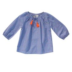 Pompon Dots Blouse - Bonheur du Jour Online - Baby, Kids & Teens Webshop Goldfish.be - Goldfish Kids Web Store Mechelen