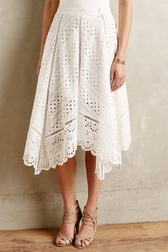 Zimmermann Gemma Embroidered Skirt