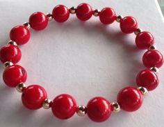 Stretch bracelet, Bamboo Coral, handmade bracelet, silverbymaggie, healing bracelet, boho bracelet, chakra bracelet, gifts for her, fashion by SilverByMaggie on Etsy