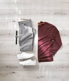 Men Casual T-Shirt Outfit 🖤 Very Attractive Casual Outfit Grid, Mens Fashion, Fashion Outfits, Fashion Tips, Fashion Trends, Sport Fashion, Fashion Styles, Fashion Photo, Fashion Fashion, Mode Hipster