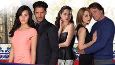 Protagonistas de la telenovela El color de la pasión