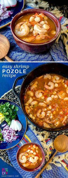 Easy Shrimp Mexican Pozole