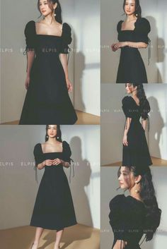 Elegant Dresses Classy, Classy Dress, Classy Outfits, Pretty Outfits, Pretty Dresses, Korean Fashion Dress, Kpop Fashion Outfits, Cute Fashion, Fashion Dresses
